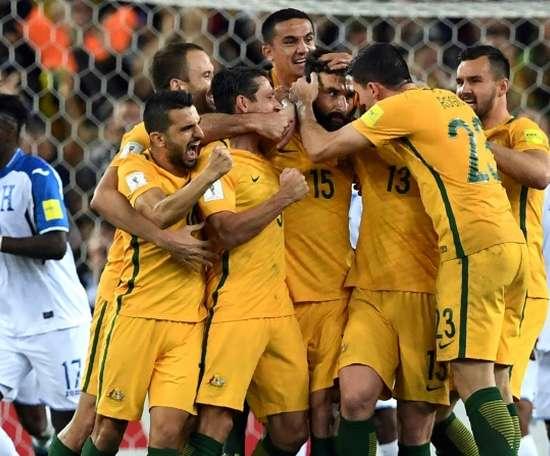 Australia through to a fourth consecutive World Cup. AFP