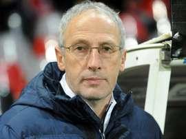 Le coach Pascal Gastien, alors en charge de Châteauroux contre Guingamp. AFP