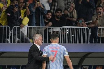 Solskjaer defendió la baja de Cristiano en la EFL Cup. AFP