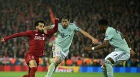Javi Martínez gustó bastante en Anfield. AFP