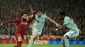 Javi Martinez a été bon contre Liverpool. AFP