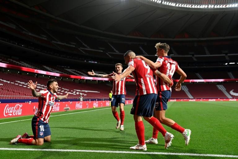 El Atlético celebra un gol frente a la Real Sociedad