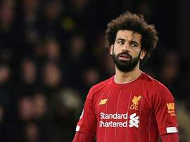 Salah's agent denied that he spoke about a Madrid offer. AFP