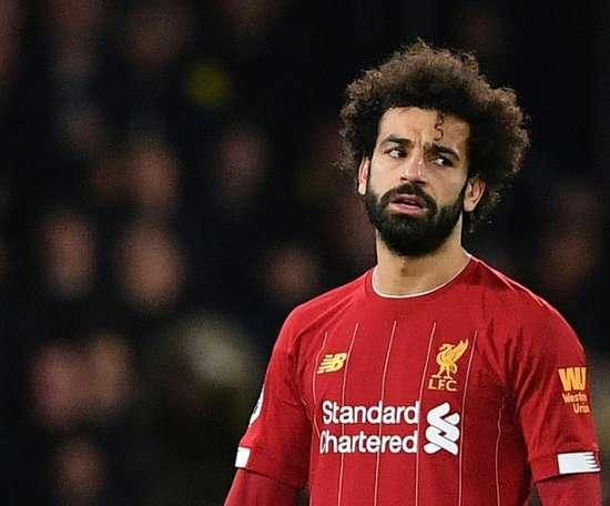 Il Liverpool dovrà fare a meno di Salah per quattro mesi. AFP