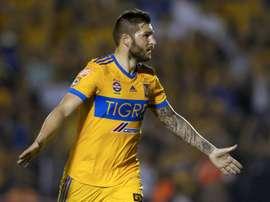 Gignac ouvre son compteur de but contre Leon. AFP