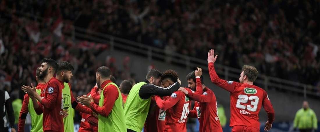 Les Herbiers se metió en su primera final de la Copa de Francia. AFP