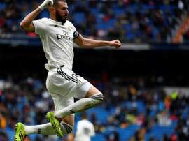 Benzema likes scoring with his head. AFP
