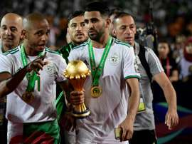 Mahrez évoque Aouar et l'Algérie. AFP