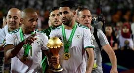Mahrez fue la gran estrella de la Copa África. AFP