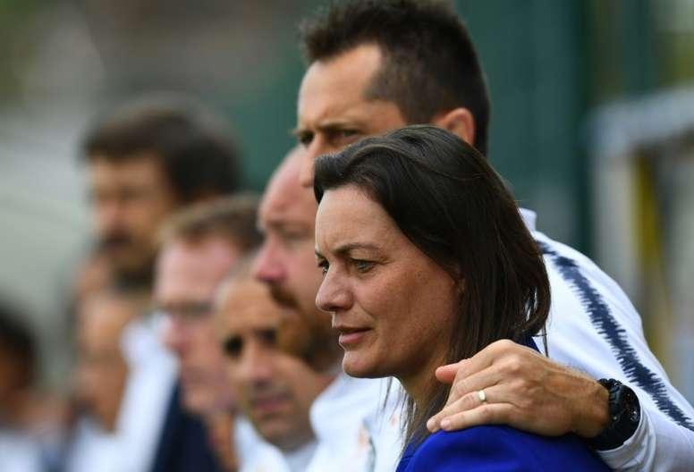 Diacre défend ses joueuses. AFP