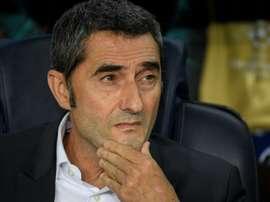 Valverde était en conférence de presse après la victoire des siens. AFP