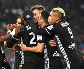 Lyon vence Marseille no Vélodrome. AFP
