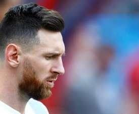 Leo Messi podría no jugar con Argentina más este año. AFP