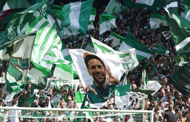 Escalações oficiais de Werder Bremen e Bayer Leverkusen. AFP