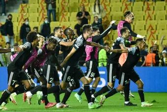 El Sheriff se impuso en su debut por 2-0 ante el Shakhtar. AFP