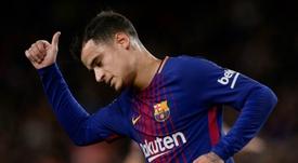 Coutinho struggled in Sunday's tie with Getafe. AFP