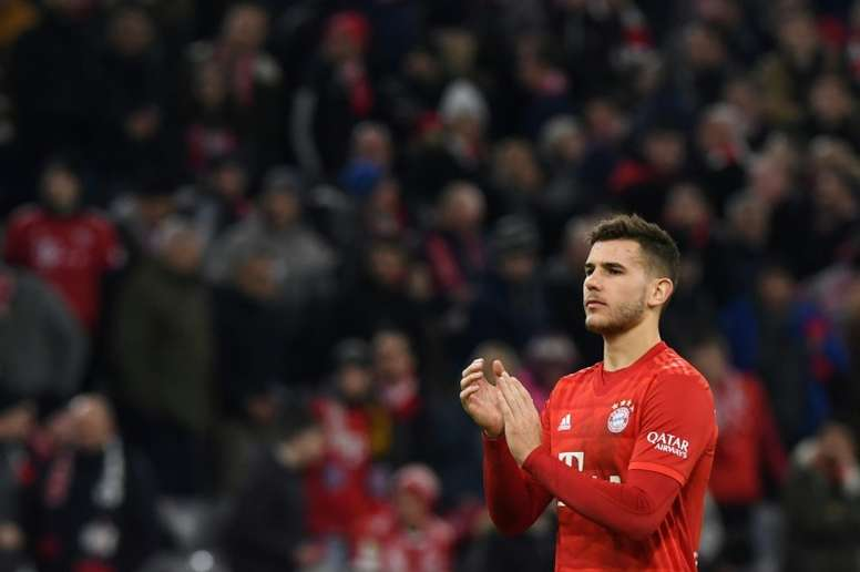 Lucas y su palabras de cariño hacia el Atlético. AFP