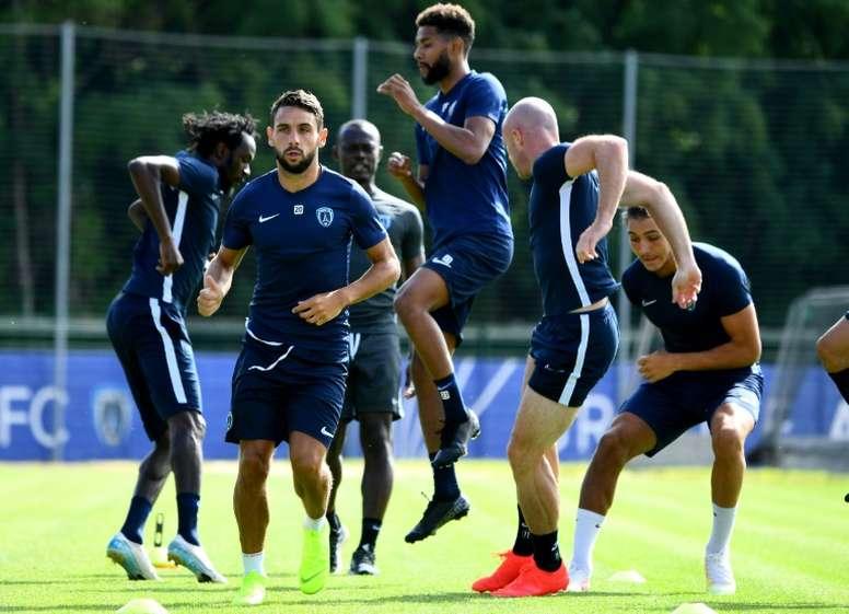 Au Paris FC, une reprise sans embrassades ni panique. afp