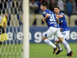Cruzeiro va con todo a por River. AFP