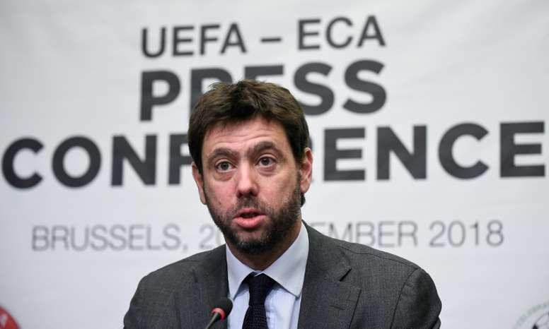 Andrea Agnelli, président de l'ECA et de la Juve. AFP