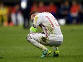 Sergio Ramos, sifflé à Malte. AFP