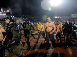 Violence broke out between fans as Red Star Belgrade faced Partizan. AFP
