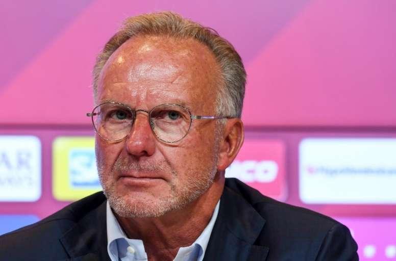 Rummenigge commente l'arrêt de la Ligue 1. AFP