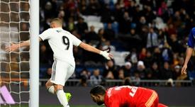 Benzema a ouvert la voie du succès du Real Madrid. AFP