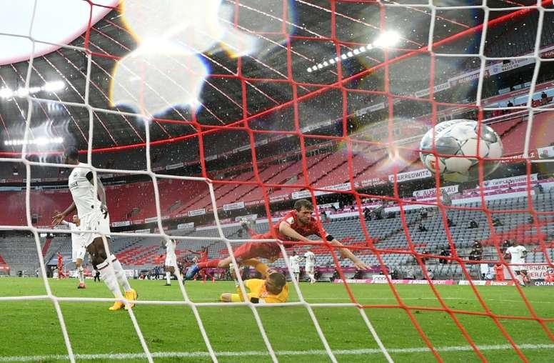 El Bayern goleó pero con algún apuro. AFP