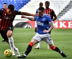 Nice battu les Rangers, mais Vieira satisfait des jeunes. AFP