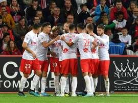 Les compos probables du match de Ligue 1 entre Nîmes et Amiens. AFP