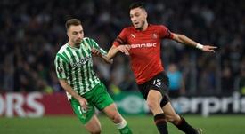 La efectividad del Rennes condenó al Betis. AFP