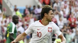 Krychowiak deja fuera a España de las favoritas para la Eurocopa. AFP