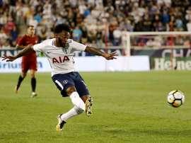 Nkoudou évolue actuellement à Tottenham. AFP