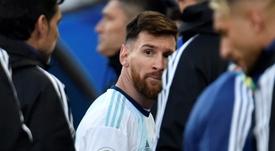 Lionel Messi suspendu trois mois après ses critiques à la Copa America. AFP