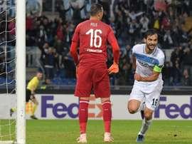 La Lazio venció al Marsella. AFP