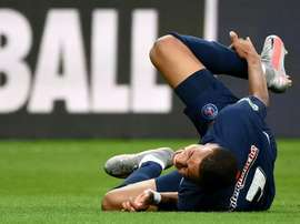 'L'Equipe' says it would be a miracle if Mbappe played v Atalanta. AFP