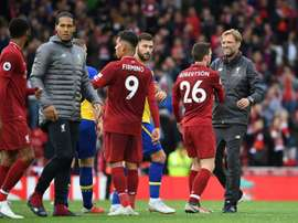 Les compos probables du match de Premier League entre Southampton et Liverpool. AFP