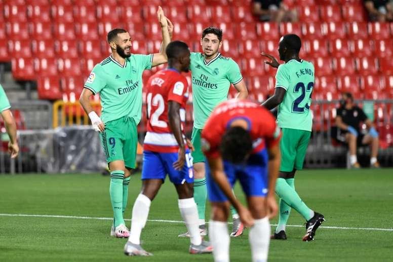 El Real Madrid firmó otro triunfo y tiene el título a tiro. AFP