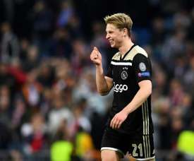Frenkie De Jong's mother has spoken to the press. AFP