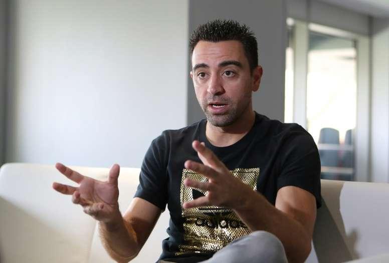 Xavi a parlé des différences entre le Barça et le Real. AFP