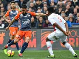 Les compos probables du match de Ligue 1 entre Montpellier et Monaco. AFP