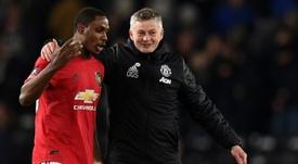 Ighalo devait partir en mai.. et a demandé de terminer la saison avec Man United. AFP