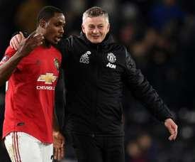 Ighalo serait prêt à baisser son salaire pour rester à United. AFP