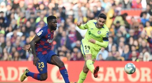 Samuel Umtiti (L) has hardly played recently. AFP