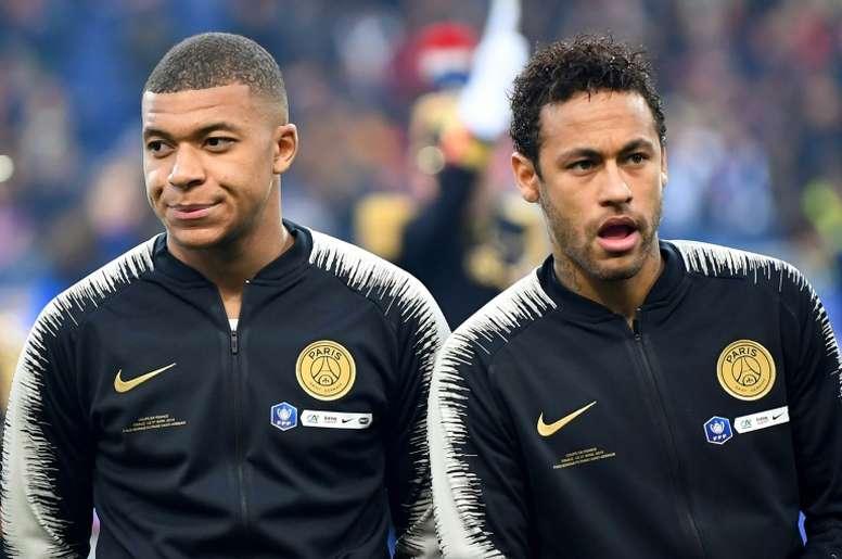 Los números cuadran con Mbappé y Neymar. AFP