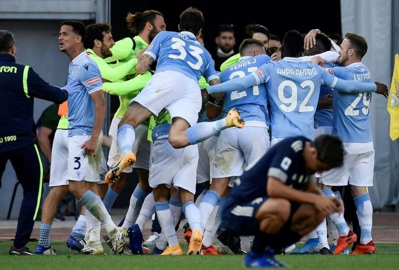 La Lazio s'impose en mode water-polo à Crotone. afp