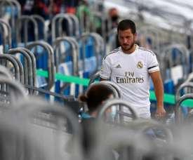Hazard inquiète le Real Madrid. AFP