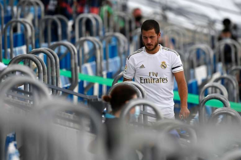 Hazard is out for Real Madrid. AFP