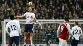 Kane beat Koscielny in the majority of aerial battles on Saturday. AFP